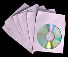 <<< CD/DVD Paper Sleeve x100 w/ Clear Window Fold Over Flip >>>