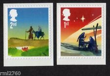 2015 CHRISTMAS 2nd and 1st Class SINGLE STAMPS from Booklets LX49, LX50, Gravure