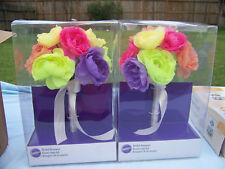 Wilton Bridal Bouquet For Weddings Multicolor Flowers Bride-Bridesmaid Set of 2