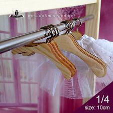 1/4 MSD BJD size Doll Clothes Hangers Wood Furniture Coat Hanger Dollfie DOD #63