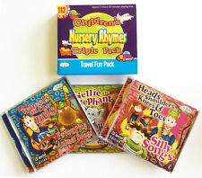 Children's Nursery Rhymes Travel Fun Pack 3CDs of kids songs songs & rhymes NEW