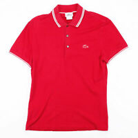 Vintage LACOSTE  Red Classic Short Sleeve Polo Shirt Mens S