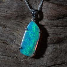 White/Precious Opals Fine Pendants
