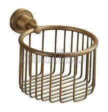 Antique Brass Wall Mounted Toilet Paper Holder Shower Shelf Basket sba027