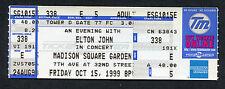 1999 Elton John unused full concert ticket Madison Square Garden New York