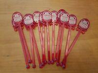 Vintage Lot Plastic Swizzle Stir Sticks 12 Union Pacific Good Shape