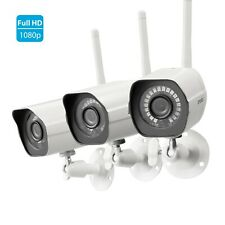 Zmodo 1080p CCTV Wireless Security Bullet IP Camera *3 Pack* Outdoor IR Cut