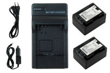 2xBateria + Cargador BP-718 con INFOCHIP para Canon LEGRIA HF R37, R38, R46, R47