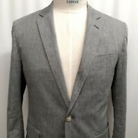 J Crew Ludlow Cotton Somelos Unstructured Sport Coat Blazer Gray 38 Short Jacket