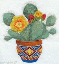 Southwest Cactus Blooms SET OF 2 BATH HAND TOWELS EMBROIDERED BY LAURA