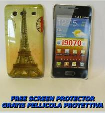 Pellicola+custodia BACK COVER TOUR EIFFEL per Samsung I9070 Galaxy S Advance