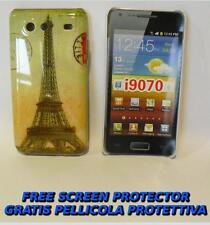 Pellicola+custodia BACK COVER TOUR EIFFEL per Samsung I9070 Galaxy S Advance