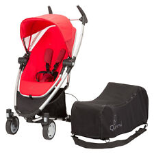Quinny Zapp Xtra Folding Seat Stroller in Rebel Red + Quinny Travel Bag New