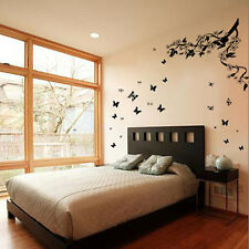 Huge 3D Butterfly Vine Flowers Wall Stickers Children Nursery Decals Wallpaper