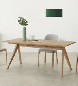 Made.com Wingrove  8-10 Seat Extending Dining Table, French Oak Rrp £649 #7636