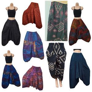 Warm Harem Trouser Winter Aladdin Pant Boho Gypsy Yoga 8 10 12 14 16 18 20 22