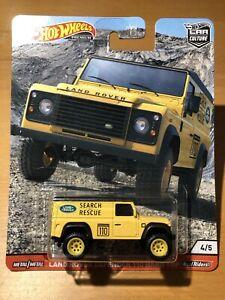 Hot Wheels Premium Car Culture Wild Terrain Land Rover Defender 110 Mint On Card