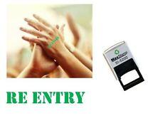 Sello de re-entrada mano-adecuado para festivales, fiestas, pubs, exposiciones, etc...
