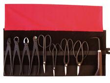 Bonsai-Werkzeug-Set Profi 10 teilig Japanqualität mit Rolltasche # HqB-225bR