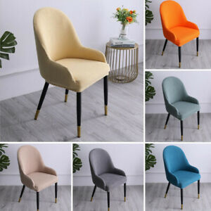 Stretch Dining Room Chair Covers Office Banquet Backrest Armchair Slipcover Seat