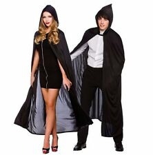 Adult HOODED LONG CAPE Halloween Horror Count Dracula Fancy Dress Costume Outfit