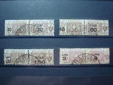 ITALIA REGNO 1923-25 SERIE COMPLETA PACCHI POSTALI N. 20-23 USATA VAL CAT. € 300