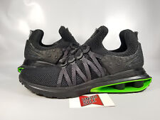 Nike Shox Gravity Luxe BLACK GREEN STRIKE VOLT AR1470-003 11.5 TURBO NZ CHROME