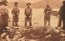 Postcard Emptying the Salmon Nets Columbia River Washington