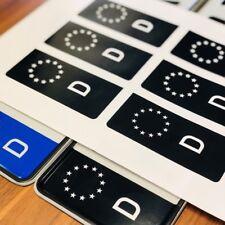 6x ✔ EU Feld ✔ Aufkleber Schwarz ✔ Kennzeichen Sticker ✔ Nummernschild Tuning ✔