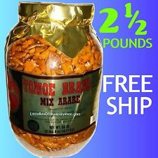 TOMOE BRAND ARARE – KAKI MOCHI CRUNCH RICE CRACKERS 38 oz Jar = 2 ½ LBS – HAWAII