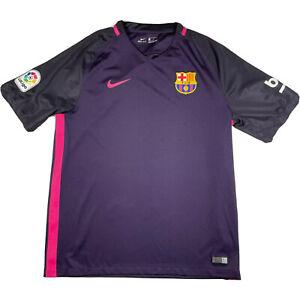 Nike FC Barcelona Spain Soccer Football Jersey Mens Size Large Purple