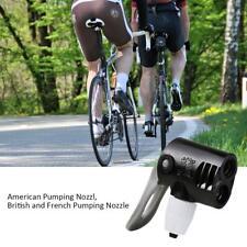 Bike Bicycle Dual Head Pump Nozzle Valve Connector Hose Adapter Pumping Parts