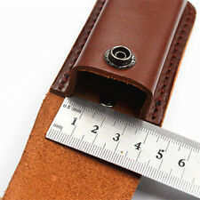 "Folding Knife Multi Tool Case Pouch 5"" Cowhide Leather Sheath Pocket"