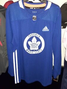 NEW Adidas 🏒Toronto Maple Leafs🏒 Authentic Practice Jersey Size 46 (CA7228)
