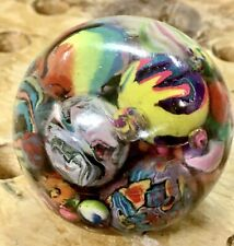 """Huge UV Resin Art Marble Full Of Polymer Clay Marbles Almost 2"""""""