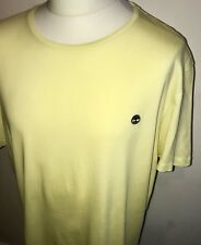 Timberland Mens T Shirt Yellow Short Sleeve Size XXL New With Tags
