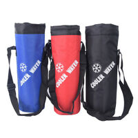Water Bag Drawstring Water Bottle Pouch Insulated Cooler Bag Outdoor Travelin JR