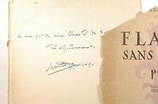 Signed Flamme Sans Lumiere. Poemes - Marcel Despax Editions Boechart Paperback B