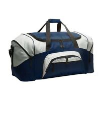 Port Company Big ColorBlock Football Gym Bag Baseball Duffel Workout Sport Navy