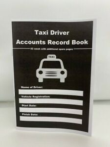 TAXI DRIVER  ACCOUNT RECORD BOOK 53 WEEK