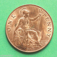 1912H George V H Heaton mint mark Uncirculated Penny Really good lustre SNo40594