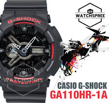 Casio G-Shock Black and Red Series Special Color Watch GA110HR-1A AU FAST & FREE
