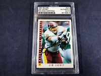 A4-72 FOOTBALL CARD - JIM LACHEY REDSKINS - AUTOGRAPHED - 1993 SCORE - CARD #274