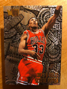 SCOTTIE PIPPEN 1995-1996 FLEER METAL NUTS and BOLTS #216