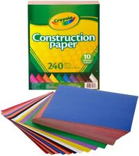 """Crayola Construction Paper Pad, 9"""" x 12"""", 240 Sheets 10 Different Colors!"""