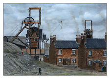 Glasshoughton Colliery Pit Buildings - Ltd Ed Print - Pit Pics - Coal Mining
