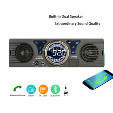 Speaker Stereo Bluetooth TF Car Radio MP3 Player FM SD In-Dash AUX USB 1 Din 12V