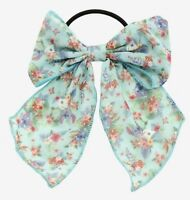 Disney Lilo & Stitch Cosplay Floral Chiffon Bow Hair Tie