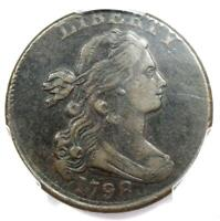 1798 Draped Bust Large Cent 1C Coin - PCGS XF Details (EF) - Rare Date!