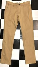 NWT Boys Abercrombie Kids Chino Khaki Pants Straight Adjustable Waist Sz 13/14 R